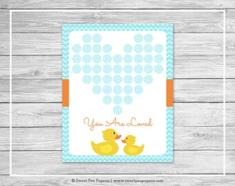 Rubber Ducky Baby Shower Guest Book - Printable Baby Shower Guest Book - Rubber Duck Baby Shower - Baby Shower Guest Book - SP122