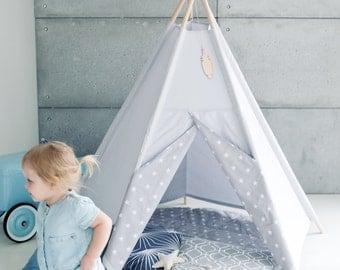 Tipi, Teepe, Wigwam, Zelt, Tent, Playtent, White, Kids teepee tents, Tipi enfant, LittleNOMAD
