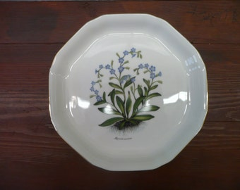 Mayfair Fine Bone China Myosotis Arvensis Flower Plate