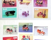 The history of the automobile in the models. Two sets of cards.