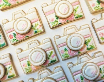 Hand Painted Camera Cookies