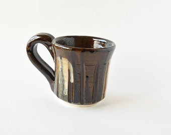 Brown white mug