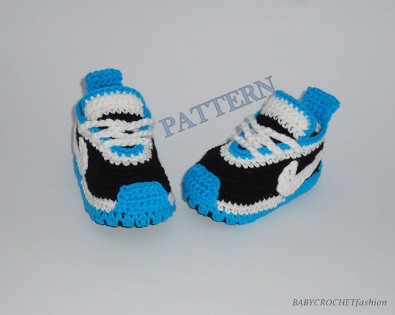 Free Crochet Pattern For Baby Tennis Shoes : CROCHET PATTERN Crochet pattern Baby Sneakers Pattern