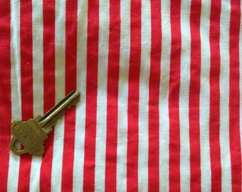 "Raggedy Doll Legs Red & White 1/4"" wide Striped Cotton Yardage  45 x 18"""
