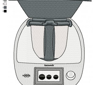 Pattern for embroidery machine thermomix TM5