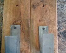 Barn wood and steel gun rack