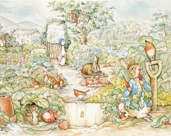 Beatrix Potter Peter Rabbit Scene Wall Mural