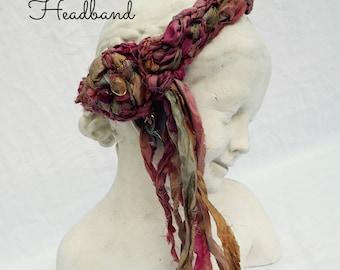 Silk Seaweed Headband Burnt Umber