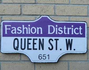 Toronto Street Sign - Fashion District