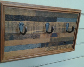 FREE shipping **Key hook made from reclaimed barnwood wall art rustic key rack