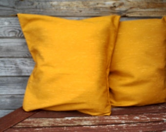 Mustard  Pillow Cover, Decorative Pillow, Throw Pillow,Pillow Sham,Set of 2 cover, Mustard  Cushion, RE-USED