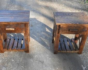 Beautiful side oak side tables!!