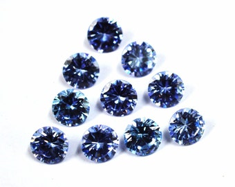 Wholesale lot of 50 pcs. ! Cubic Zirconia Round cut Amethyst cz  loose gemstone For jewellery with free shipping