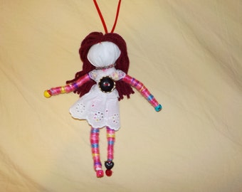 wish granted hanging doll, positive energy doll, one of a kind