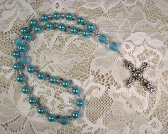 Anglican Prayer Beads-Rosary-Turquoise