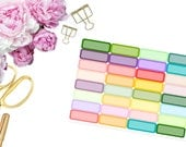 Colorful Solid Quarter Boxes -- Matte Planner Stickers