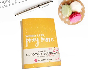 Worry Less/Give Thanks Christian Pocket Journal Set