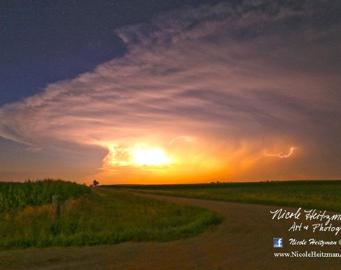 Eye of the Storm Thunderstorm Photography Storm Photo South Dakota Photography Lightning Photography HDR Photography by Nicole Heitzman