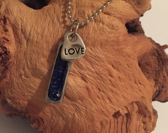 cobalt blue resin pendant