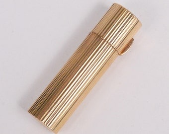 Rare Antique BIRKS 9K Gold Lipstick Case (19.9g)