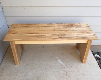 Wormy Maple Bench