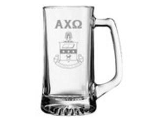 Alpha Chi Omega Engraved Glass Mug