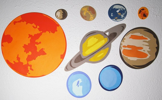 Planets Solar System Outer Space Wall Decorations Birthday