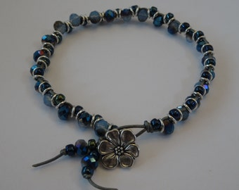 Blue and Silver Illusion Bracelet