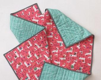 Llama love whole cloth quilt