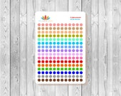 """S055 - 192 Mini 1/4"""" To Do Color Coding Dots Planner Stickers"""