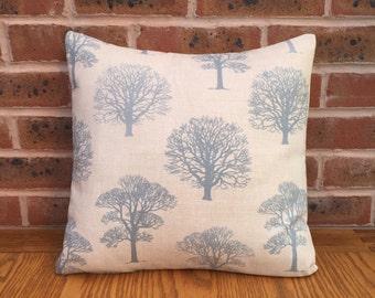 "Duck Egg Blue Trees Nature Decorative Pillow Cushion Cover 16"" / 40cm"