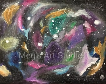 Galaxy Painting, Outer Space Painting, Stars Painting, Milky Way Painting, Science Art, Millions of Stars Painting