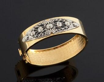 Platinum & Gold Diamond bangle
