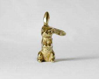 Vintage Brass Rabbit Figurine