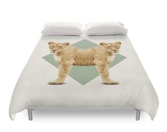 Lionesses Duvet Cover - Double Animals
