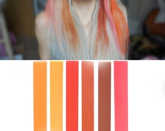PUMPKIN SPICE Ombre Hair Chalk Set of 6 | DIY bronde hair dye for easy and simple hair coloring