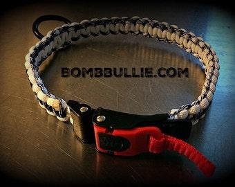 Adjustable Cobra Paracord Dog Collar