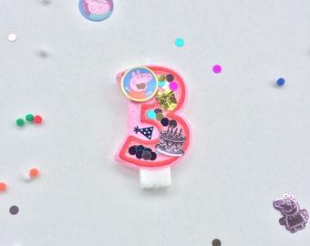 Peppa pig candle / peppa pig birthday / peppa pig cake topper / peppa pig party / peppa pig birthday decorations / birthday candles