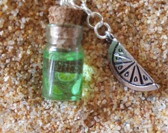 Limeade charm necklace