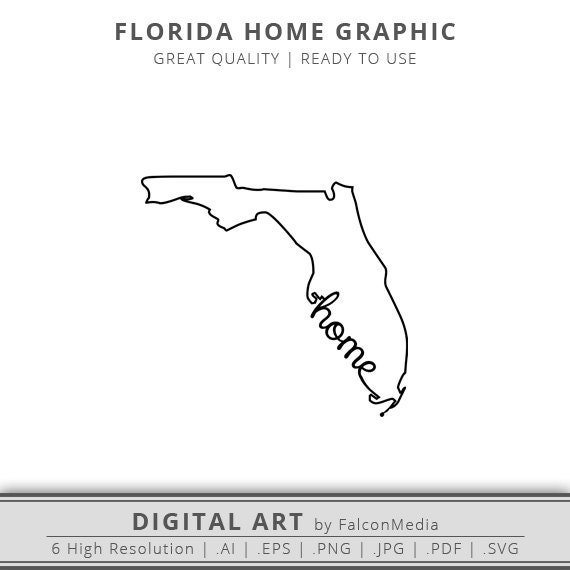 florida outline. florida state outline home graphic svg silhouette digital download ready to use