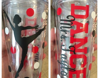 Dance 16oz. Double Wall Tumbler (straw included)
