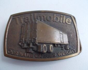 Vintage Trailmobile Belt Buckle