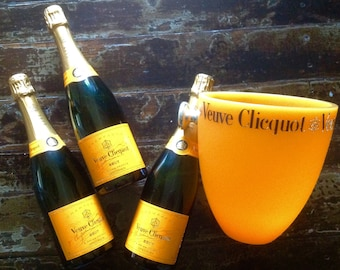 Vintage Champagne Bottle, Veuve Clicquot, French Champagne Display, French Home Decor Barware, Wedding, Party Supplies