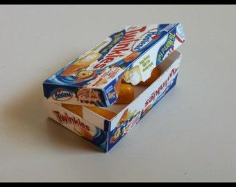Twinkie box and snack Benvenuti a Zombieland 1:6 custom hand made accessories
