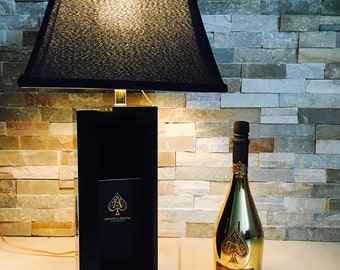 Ace Of Spades Champagne Lamp/Empty bottle and book included.