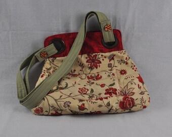Red & Ecru Bag