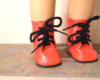 Red with lace doll boots