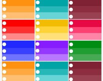 Check list half box Planner Stickers