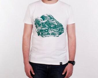 Wisent. T shirt for men. T-shirts printing. Custom tee shirts. Screan printed T shirt men's. Adult tee. Ultra cotton