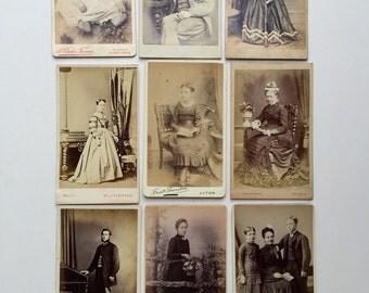 Victorian Cabinet Cards/vintage Photographs.